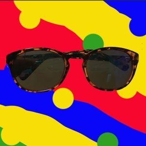 J. Crew mirrored tortoiseshell sunglasses round